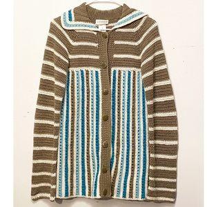 Unique Striped Cardigan Sweater